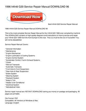 calam o 1996 infiniti g20 service repair manual download 96 rh calameo com 1996 civic service manual 1996 civic service manual