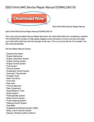 calam o 2003 infiniti m45 service repair manual download 03 rh calameo com 2004 infiniti m45 service manual 2006 Infiniti M45