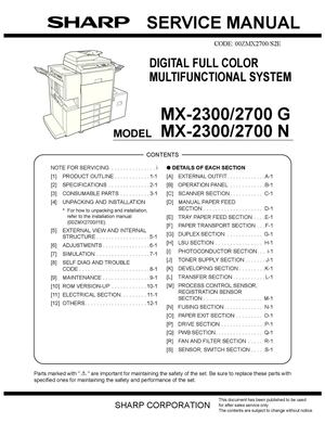 calam o service manual mx 2700 rh calameo com Sharp ManualsOnline Sharp Copy Machine