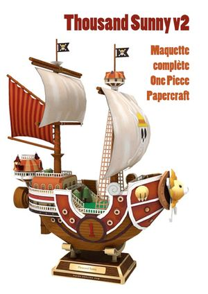 calam o 06 thousand sunny v2 papercraft one piece maquette compl te. Black Bedroom Furniture Sets. Home Design Ideas