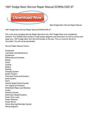 calam o 1997 dodge neon service repair manual download 97 rh calameo com Honda Service Repair Manual Factory Service Repair Manual
