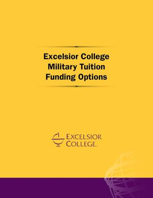 Excelsior College Military Funding Tuition Options