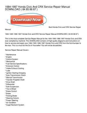 Download honda civic owner's and service manual free youtube.