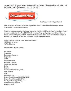 Download toyota yaris service manual / zofti free downloads.