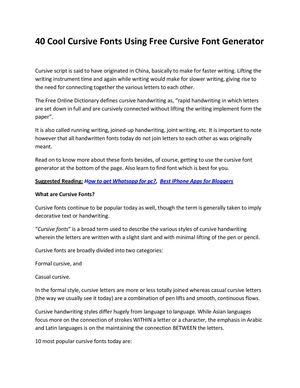 font generator cursive online