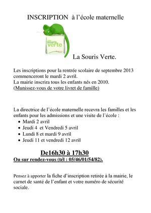 Calaméo Inscription Maternelle 2013
