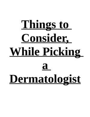 Things to Consider, While Picking a Dermatologist