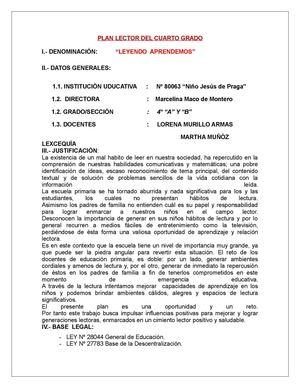 Calaméo - Plan lector cuarto grado 2013