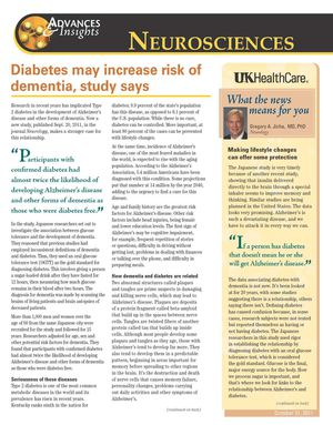 Link Between Diabetes and Dementia