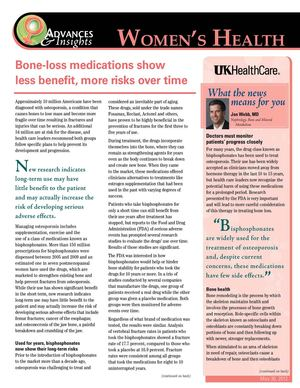 Bone-Loss Medication Less Effective
