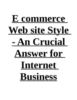 E commerce Web site Style - An Crucial Answer for Internet Business