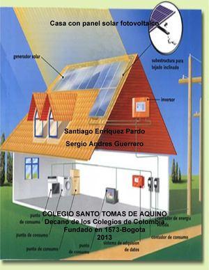 Calam 233 O Casa Con Panel Solar Fotovoltaica