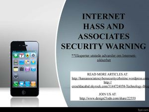 internet hass and associates security warning, Phishing og smarttelefonen apps er nye fokus for computer garanti