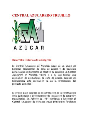 CENTRAL AZUCARERO TRUJILLO