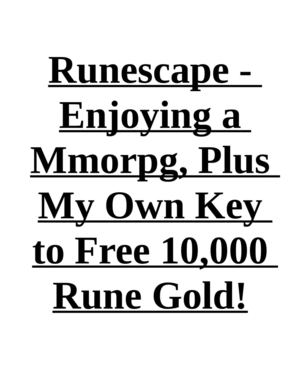 Runescape - Enjoying a Mmorpg, Plus My Own Key to Free 10,000 Rune Gold!