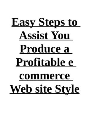 Easy Steps to Assist You Produce a Profitable e commerce Web site Style