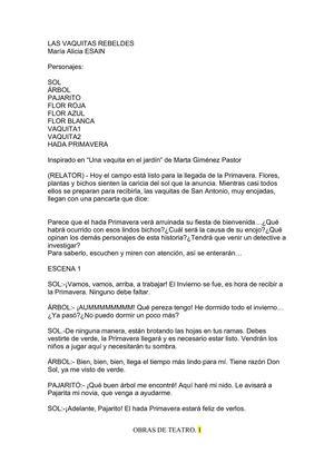 Calaméo - OBRAS DE TEATRO. ACTIVIDAD DE CICO - AULA PARA
