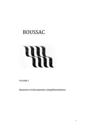 Boussac - Vol 2 - Documents annexes