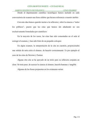 Calaméo Frases Célebres Trabajadas En El Cepa Montes Norte