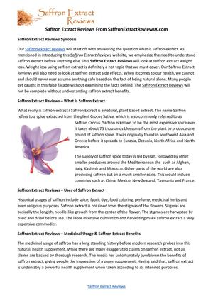 Calameo Saffron Extract Reviews