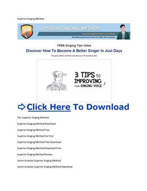 Singing success download free