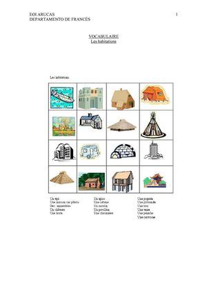 Calameo Vocabulaire Les Habitations Et Les Meubles