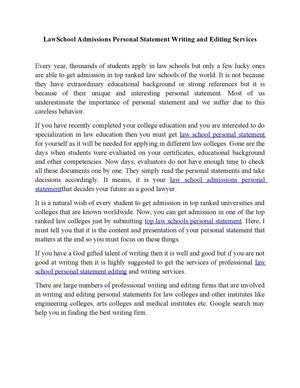 help with writing personal statement