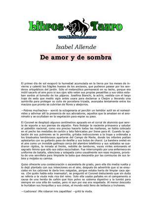 Calaméo - De amor y De sombra Isabel Allende