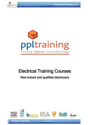 Calaméo - Electrical Training Courses
