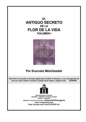 Calaméo - Drúnvalo Melchizedek : La Flor de la Vida , Primera parte .