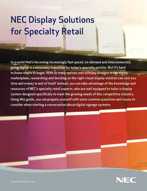NEC Display Solutions for Specialty Retail Businesses