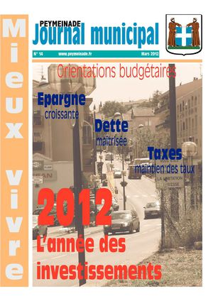 Journal Municipal de Peymeinade - Mars 2012