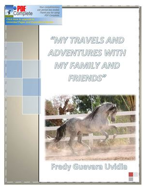 """MY TRAVELS AND ADVENTURES WITH MY FAMILY AND FRIENDS"""
