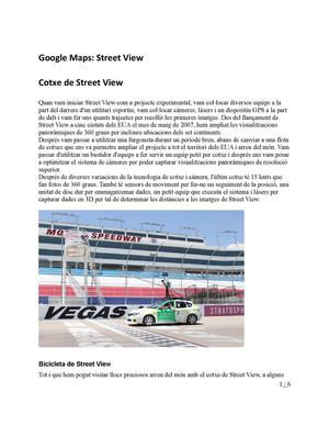 Google Maps: Street View