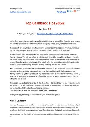 How to get top cashback on everything
