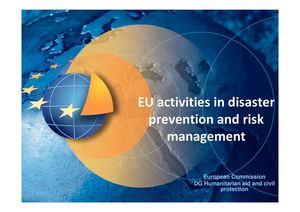 EU activities in disaster prevention and risk management