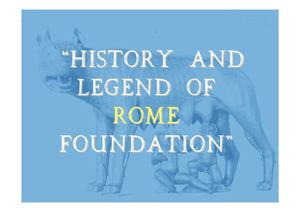 "Webquest ""History and legend of Rome foundation"""