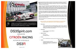 Rencontre DS3SPIRIT chez Citroën Racing