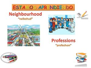 Neighbourhood and proffesion