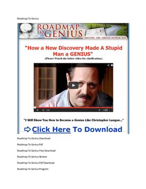 Roadmap To Genius Pdf Download + Roadmap To Genius Pdf