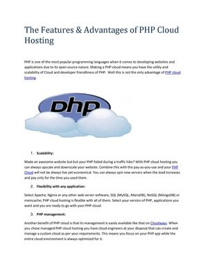 PHP Cloud Hosting- PHP Managed Cloud