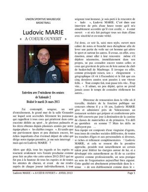 Interview Ludovic Marie
