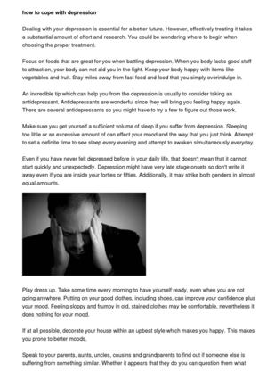Calameo How To Approach Depression And Its Symptoms