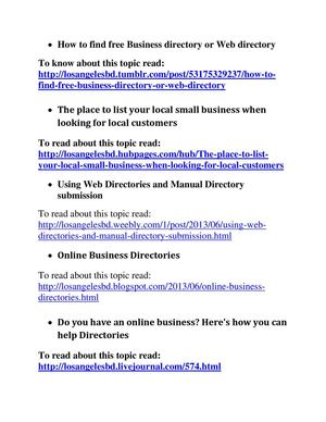 Calaméo - Some important topics about online business directory