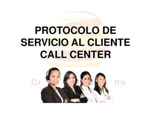 Protocolo Call Center