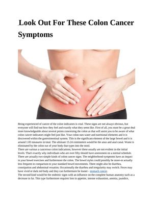 Calaméo - Look Out For These Colon Cancer Symptoms