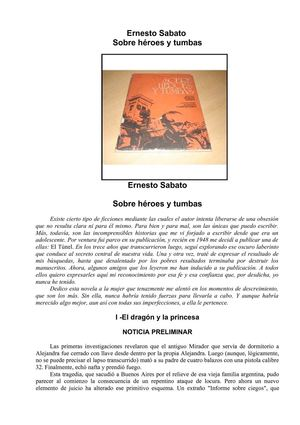Calaméo - Ernesto Sabato. Sobre Héroes y Tumbas.