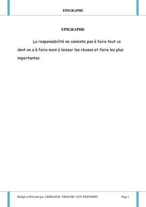 Calameo Rapport De Stage Academique Licence M I P