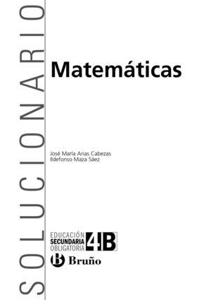 Calaméo - Solucionario Matemáticas Bruño 4-ESO-B
