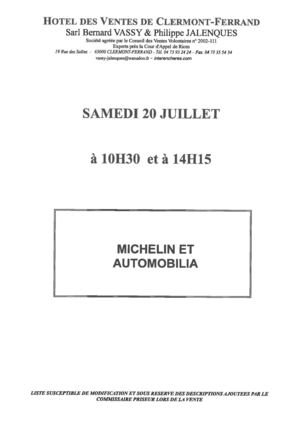 MICHELIN ET AUTOMOBILIA 20-07-2013